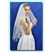 """Свадебная фата """"Кайма с подвесками"""". фото"""