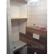 Облицовка керамогранитом в совмещенной ванной фото