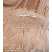 Малый Белый Кружевной Свадебный зонт. Кружевная ручка. фото
