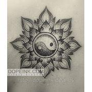 Татуировка Инь-Ян (1 сеанс) фото