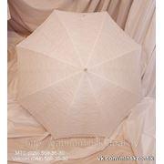 Белый Ажурный Свадебный зонт. фото