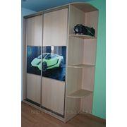 Шкаф купе со вставками фотоэлементов фото