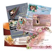 Приглашение (свадьба, юбилей, презентация) фото