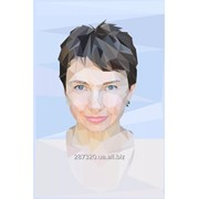 Портрет в стиле Polygon фото