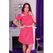 Платье рубашка с кружевом фото