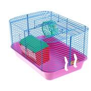 Клетка для мелких грызунов 380*260*220 мм Цветная фото