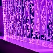 Водопады по стеклу. Пузырьковые колонны. Водно-пузырьковые панели. фото
