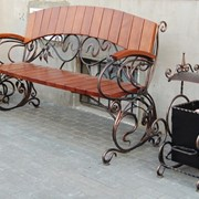 Кованая скамейка фото
