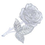 Декор Роза прозр/серебр с блеском фото
