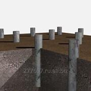Буронабивные, бетонные сваи - недорогой фундамент для вашего дома. фото