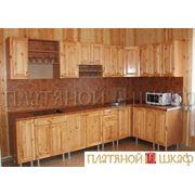 Кухня массив сосны/лак. фото