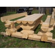Комплект деревянной мебели фото