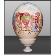 Расписные страусиные яйца авторской работы. фото