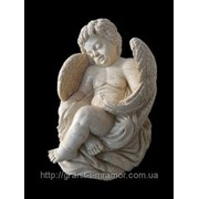 Скульптура ангел из мрамора 1 фото