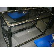 Каркас стола со стеклянной столешницей для магазинов в стиле Hi-Tech фото
