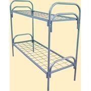 Кровать металлическая двухъярусная фото