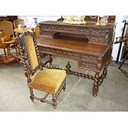 Бюро письменный стол со стулом в бретонском стиле из дуба