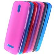 Чехол силиконовый для HTC Desire 500 розовый фото