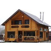 Сруб деревянного дома фото