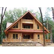 Сруб деревянного дома для постоянного проживания фото