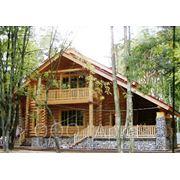 Деревянный дома из оцилиндровки