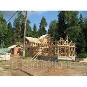 Сборка деревянных конструкций нашего производства фото