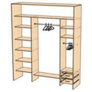 Стандартные варианты застройки шкафов-купе фото