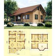 Дом из оцилиндрованного бревна Д-1 фото
