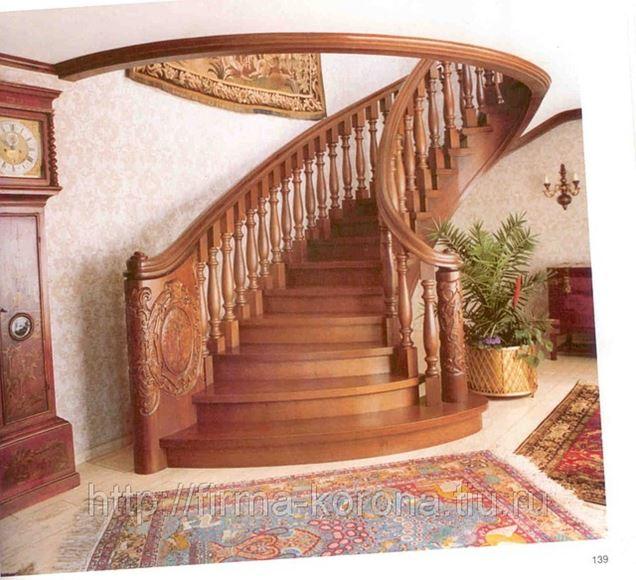 Деревянные перила для лестниц: особенности монтажа и фото