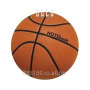 Блокнот А6, фигурная высечка, 60 л., Хатбер, гребень, 80 г/м2, Баскетбол фото