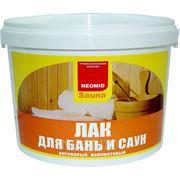 Лак для бань и саун NEOMID Sauna деревозащитный лак на акриловой основе, быстросох, водораствор фото
