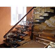 Лестницы модульные с готовым кованным ограждением фото