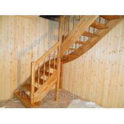 Изготовление лестницы из дуба фото