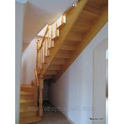 Лестница из сосны фото