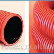 Труба гибкая гофрированная двустенная ТГГД 63 красная, РБ фото