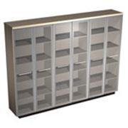 Шкаф для документов со стеклянными высокими дверьми фото