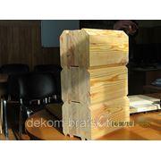 Брус клеёный профилированный 140*141 мм,L=3,0 -4,0 - 6,0м. (лиственница сибирская) фото