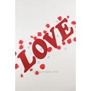 """Декор-надпись """"LOVE"""" с блёстками /красный фото"""