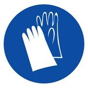 Предписывающий знак, код M 06 Работать в защитных перчатках фото