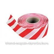 Лента сигнальная бело-красная, 50мм*200м фото