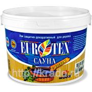 ЕВРОТЕКС-САУНА лак акриловый — аквалак с воском и антисептиком для защиты и пропитки бань и саун