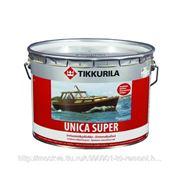 Лак для дерева, Тиккурила уника супер, Tikkurila Unica super полуглянцевый, 9 л, бесцветный фото
