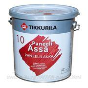 Лак, Тиккурила Панели Ясся, Tikkurila paneli Assa, матовый, 9 л, бесцветный фото