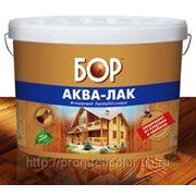 Аква-лак «БОР» водно-дисперсионный лессирующий (орех, орегон) 10л. фото