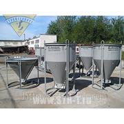 Бадья для бетона рюмка/колокольчик 1.0 м3 низкая фото