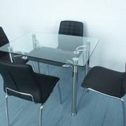 Стол обеденный из стекла фото