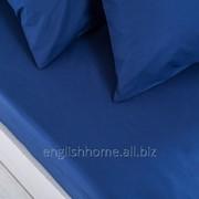 Простирадло Duz з бавовни 160x240 синій фото