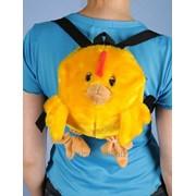 Мягкая игрушка Цыпленок-рюкзачок С919 фото