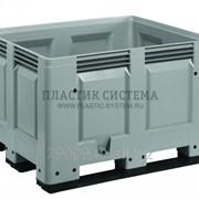 Контейнер Big Box сплошной на полозьях (1200х1000х790мм) фото