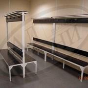 Лавочки скамейки для раздевалок. фото
